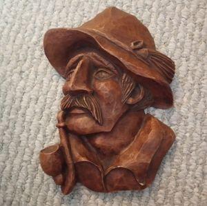 Wood Wall Art Man